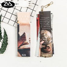 30pcs/box beautiful setting sun bookmark Korean cute bookmarks book holder message card school supplies papelaria