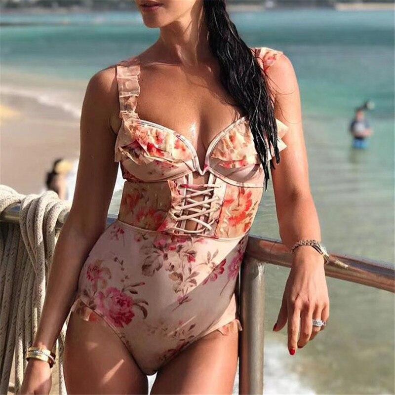 Принт боди для Для женщин пикантные узкие элегантные пляжные женские комбинезоны 2018 новый летний Для женщин боди