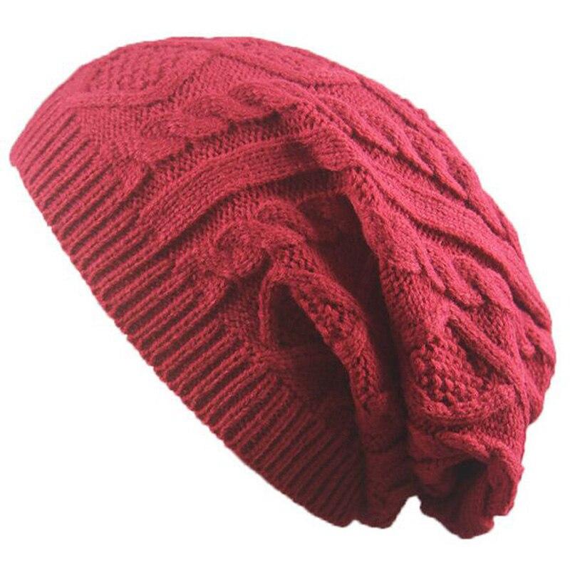 XEONGKVI Europe America Brand Twist Knitted Caps Winter Warm   Skullies     Beanies   Woolen Yarn Hats For Women And Men 54-60cm