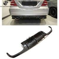 CLk carbon fiber AMG rear bumper Lip rear diffuse spoiler tail lip car body kit for Mercedes Benz CLk W209 03 UP Car styling use