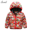 SUODE Mickey Girls Winter Down Coat Kids New Year Thick Warm 90% Duck Down Hooded Jacket Clothes Children Christmas Outerwears