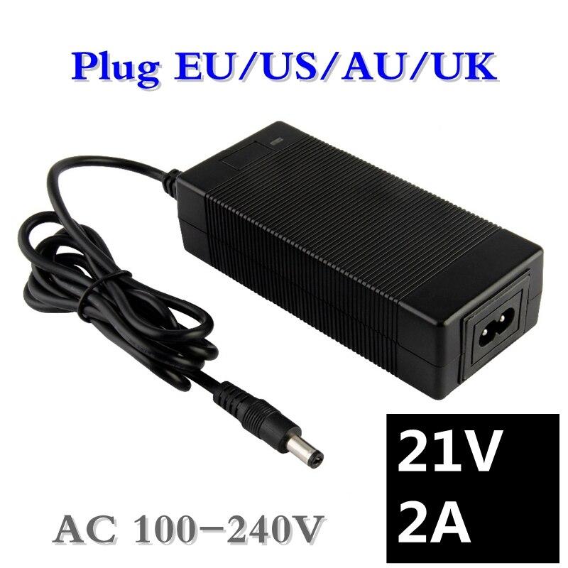 21v 18v 2a lithium battery charger 5 Series 100-240V 21V 2A battery charger for lithium battery with LED light shows charge