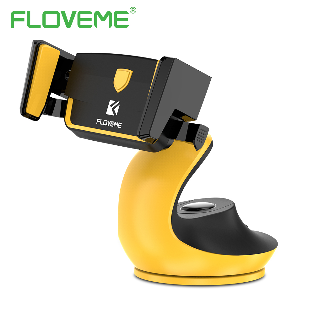 FLOVEME Automatic Lock Adsorption Desk Car Phone Holder For Mobile Phone Tablet
