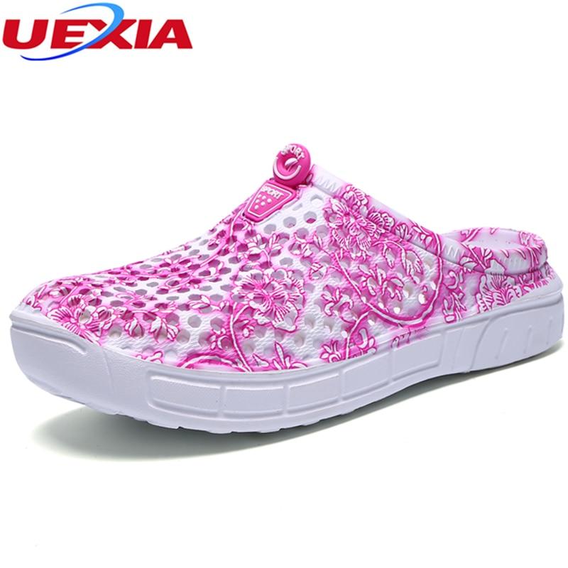 UEXIA Flip Flops Women Sandals Summer Slippers Shoes Casual Walking Seaside Beach Slides Brand Designer Flats Hollow Camouflage