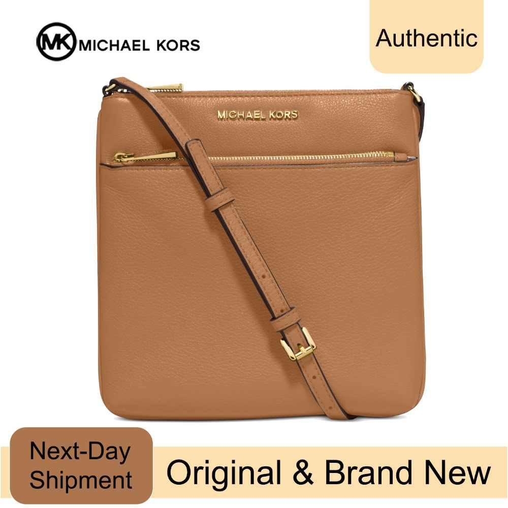 610fb1949aa6 Michael Kors Riley Small Pebbled-Leather Crossbody (Acorn/Gold) Luxury  Handbags For