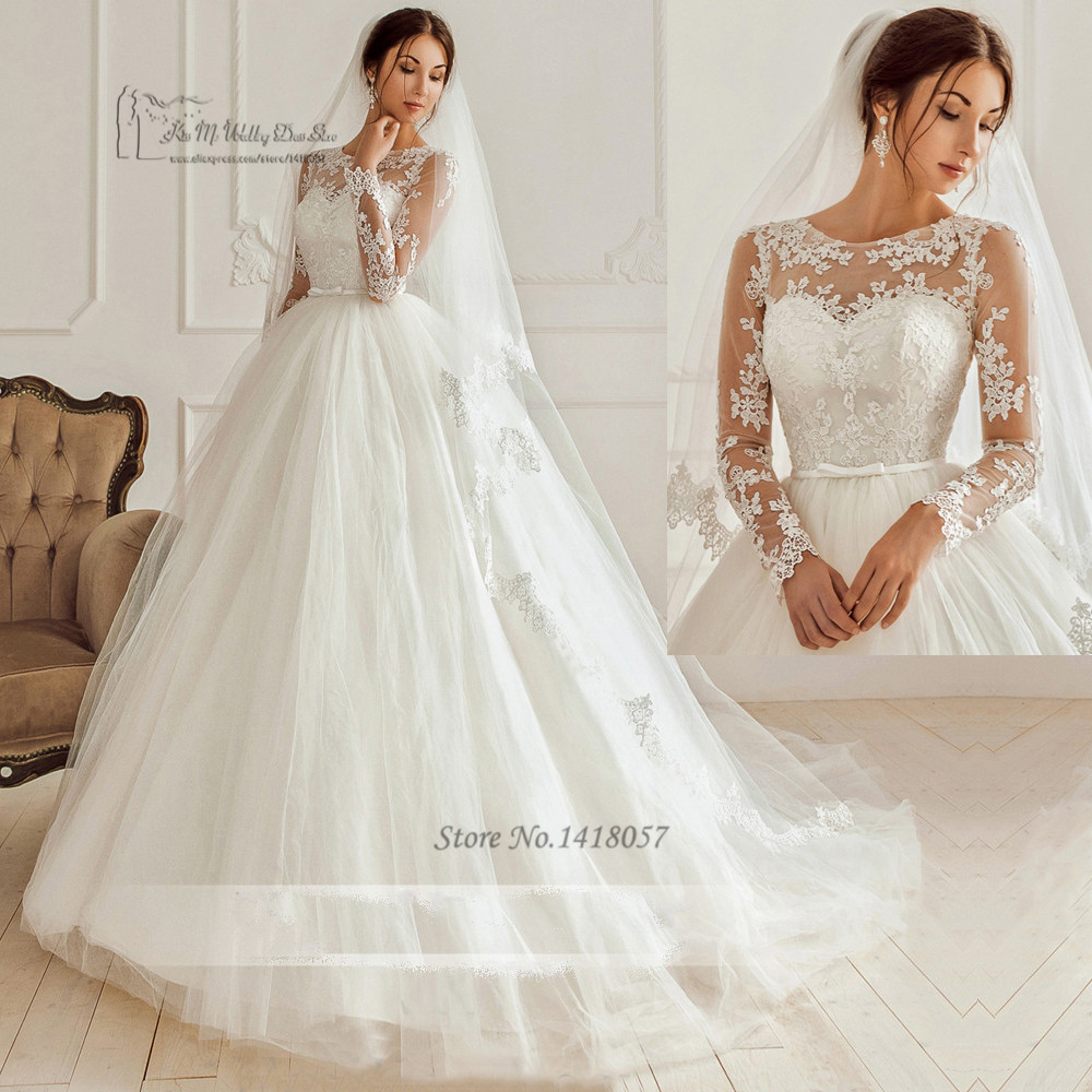 e5adf3177e2a6 2017 الصين خمر الكورية فساتين زفاف كم طويل الرباط أثواب الزفاف vestido دي  noiva الأميرة فستان