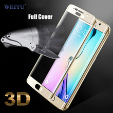 WEIYU 3D Curved Surface Colorful Full Cover Tempered Glass Screen Protector Film for Samsung Galaxy S6 Edge/S8/S8 Plus