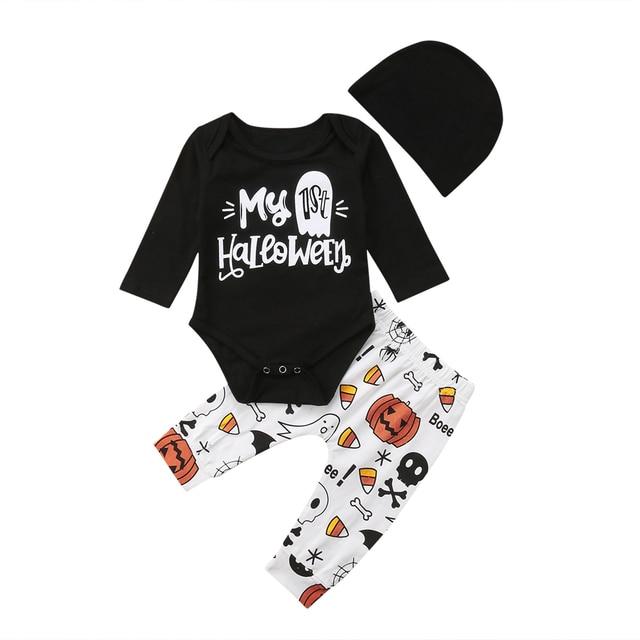 da6367995 2018 Emmababy Halloween Newborn Infant Baby Girl Boy Letter Bodysuit ...