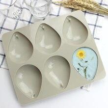 Gouttes d'eau Type 6 cavités savon aromathérapie cire bougie plâtre époxy fabrication moule en Silicone H767