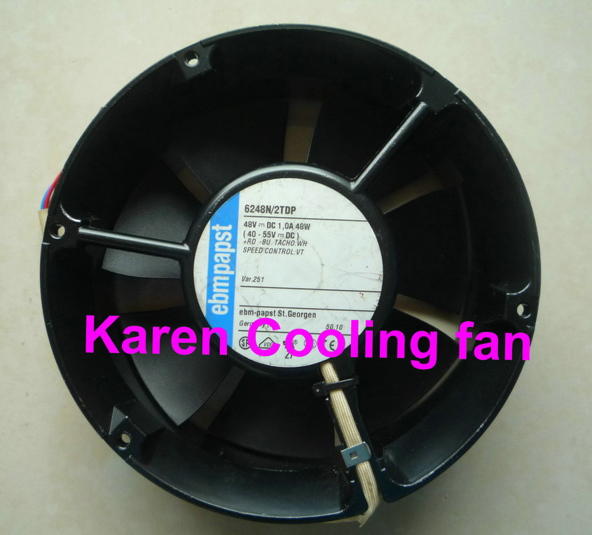 EBM PAPST 17CM 6248N/2TDP 17251 48v 1.0A 171*171*51mm 48v 1.0a high quality cooling fan 230v 1a 50hz ebm papst r2e280 ae52 17 variable frequency fan cooling fan
