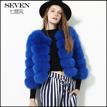 Free shipping 2016 new winter real fox fur coat imported hotsale fashion luxury colorful new arrival