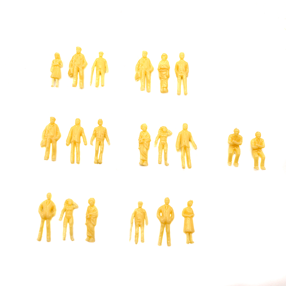 Miniature Model Doll 1/150 Scale Skin Skin Character 100 Pieces Miniature Landscape ABS Plastic Building Layout