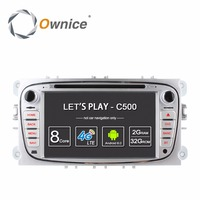 Ownice c500 4g lte android 6.0 quad core 2 din auto Lettore DVD GPS Per FORD Mondeo S-MAX Connect FOCUS//CONNESSIONE/MONDEO 2007-2012
