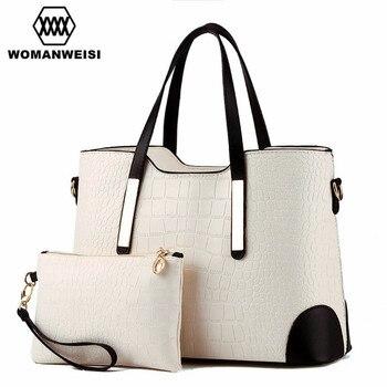 高級女性のバッグ2017真新しいデザイナー財布とハンドバッグセットファッションレザーレディーメッセンジャークロスボディバッグSacoche 8色bolsosデモーダパラmujer