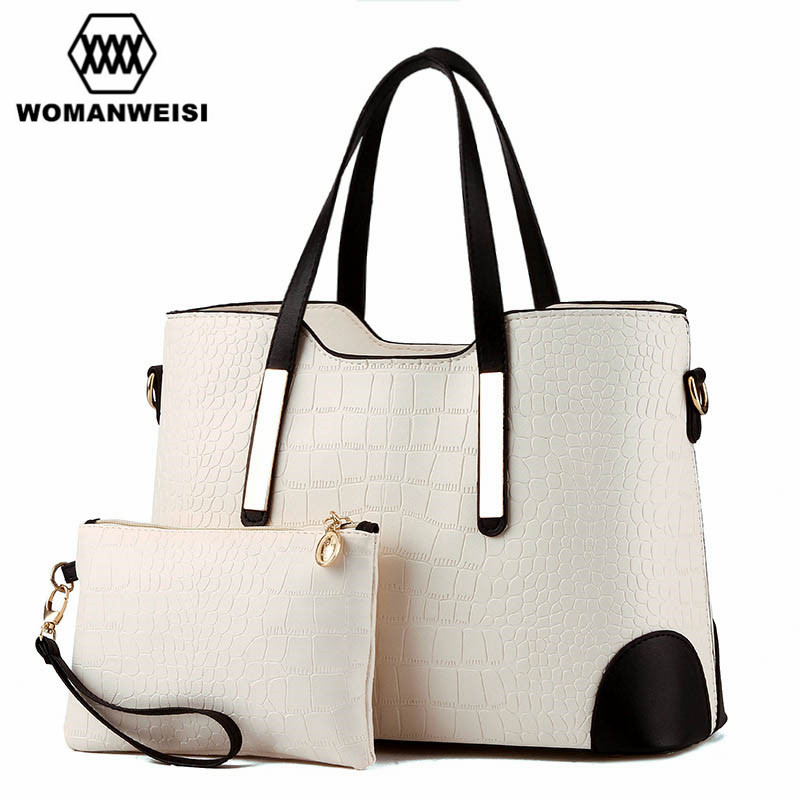 c9bdb580155e Luxury Women Bags 2018 Brand New Designer Purses And Handbags Set Fashion  Leather Lady Messenger Cross-body Bags Sacoche 8 Color