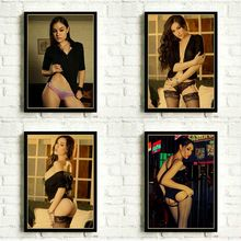 Sasha Grey Sexy Poster Wall Sticker Living Room Bedroom Wall Decoration Picture Retro Poster Art Wall Decor Painting(China)