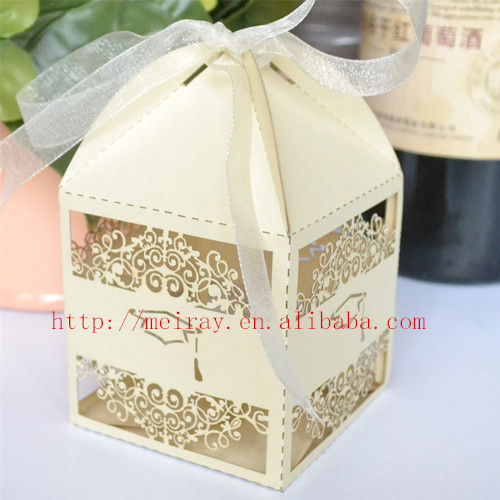 100pcs Lot Graduation Party Supplies Cap Laser Cut Candy Boxes Chocolate Box