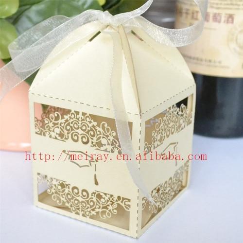 100pcs Lot Graduation Party Supplies Cap Laser Cut Candy Boxes Chocolate Box