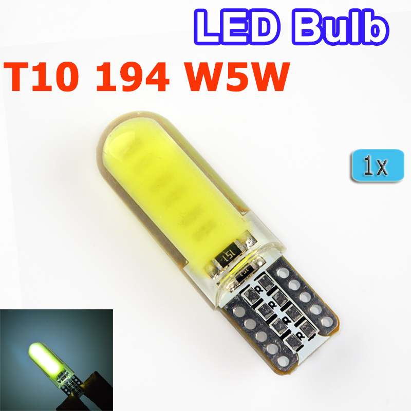 1 Pcs Car LED Silicone Small Lights T10 194 W5W
