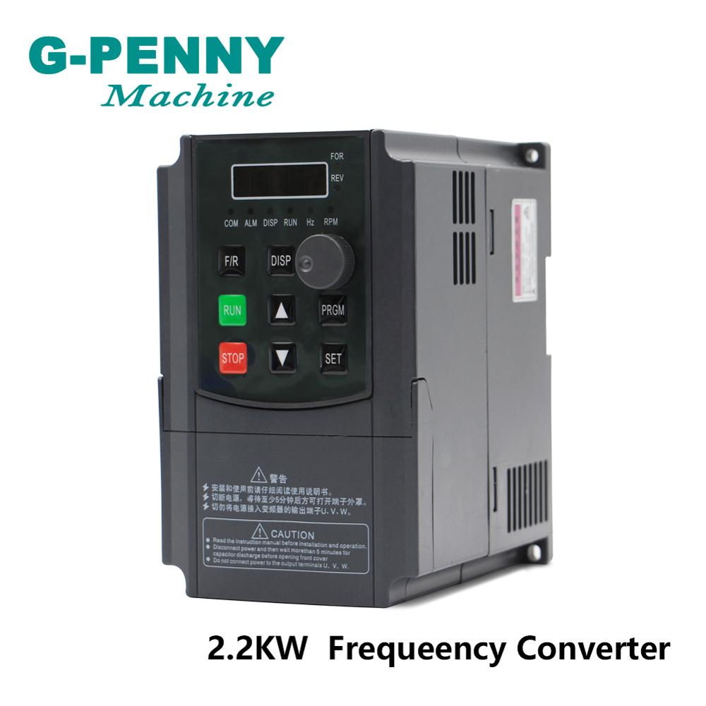 Free Shipping! 220v 1.5kw vector Inveter <font><b>2.2kw</b></font> VFD <font><b>inverter</b></font> Frequency Converter Variable Frequency Drive <font><b>Spindle</b></font> Motor Control image