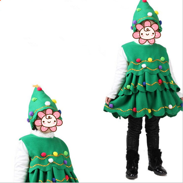 2018 Green Christmas Tree Costume For Children Girls Year Party Cosplay Clothing Dress Supplies  sc 1 st  AliExpress.com & 2018 Green Christmas Tree Costume For Children Girls Year Party ...