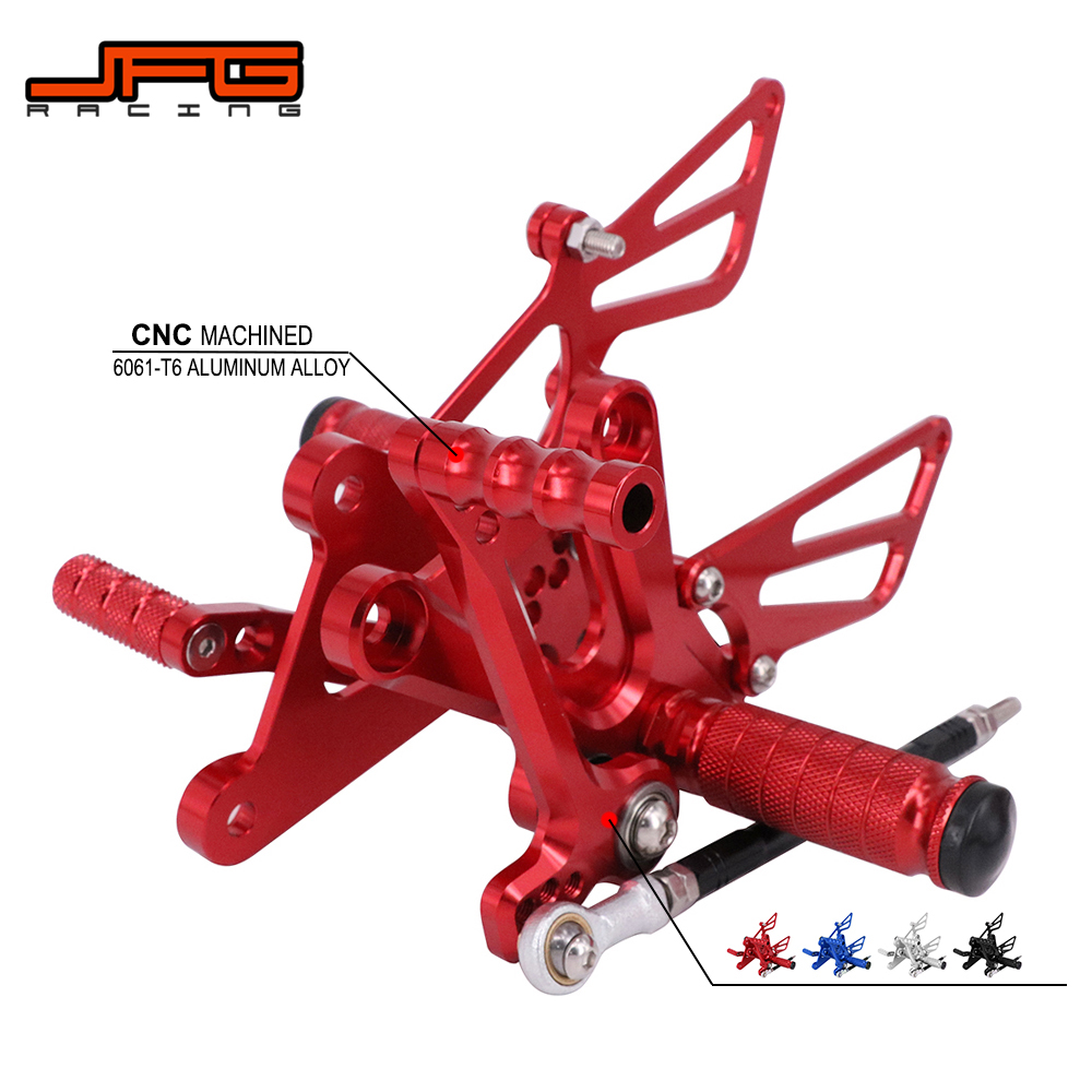 Motorcycle CNC Adjustable Foot Pegs Pedals Rest Rearset Footpegs For HONDA CBR250RR CBR300R CB300F 2011-2017 <font><b>NSR50</b></font> NSF100 image
