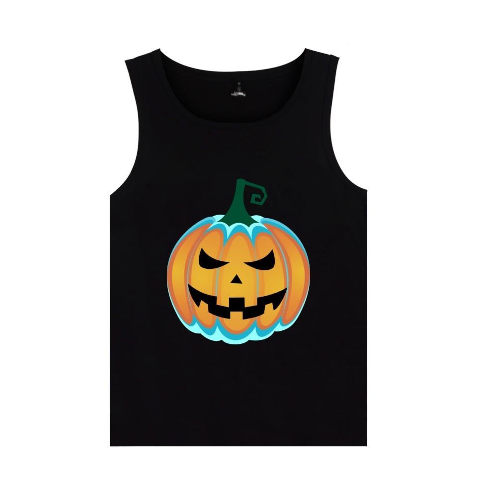 Halloween Novel Fashion   Tank     Tops   different Pumpkin Pattern Vest All Hallows' Evening Clothing
