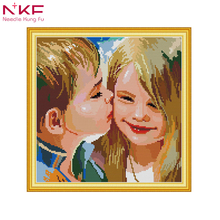NKF cross stitch kits nkf embroidery dmc 14ct 11ct print canvas hand sew cross-stitching embroidery DIY handmade needlework