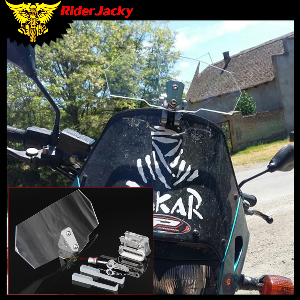 Motorcycle Accessories & Parts Covers & Ornamental Mouldings Humor Riderjacky For Triumph Aprilia All Windshield Model Motorcycle Universal Airflow Adjustable Bolt-on Variable Spoiler Windscreen Fashionable Patterns