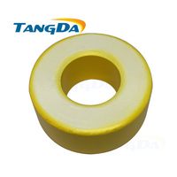 T250 26 Iron powder cores T250 26 OD*ID*HT64*31.5*26mm 242nH/N2 75ue Iron dust core Ferrite Toroid Core toroidal yellow white AG|powder iron core|toroid core|toroid ferrite cores -