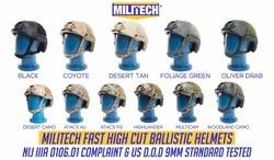 Casco balístico MILITECH NIJ nivel IIIA 3A certificado rápido OCC Dial alto corte XP Aramid casco a prueba de balas con helmetBag