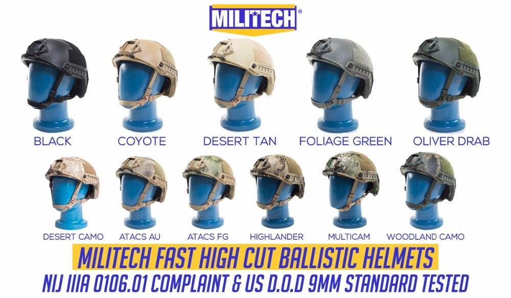 Arbeitsplatz Sicherheit Liefert Schutzhelm Militech Lite Fg Occ Liner Super High Cut Helm Kommerziellen Video Spezieller Kauf