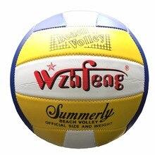 b45b223f54 Tamanho oficial 5 pu material de couro bola de vôlei praia handeball volei  para interior ao ar livre macio jogo treinamento espo.