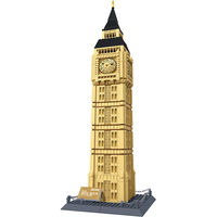 WANGE Large The Big Ben Of London Architecture Building Model Sets Bricks 1642Pcs Classic Children Educational
