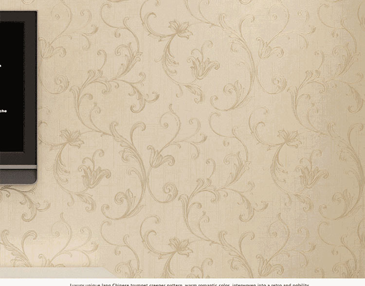 Europe Elegant Acanthus Leaf Non Woven Wallpaper Wall Decor Simple Wallpapers Papel De Parede Bedroom Living Room QZ0020 In From Home Improvement