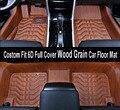 Carro-styling costom fit estéreo de alta borda 6d full grão de madeira da tampa esteira do assoalho do carro para mitsubishi lancer outlander pajero lancer