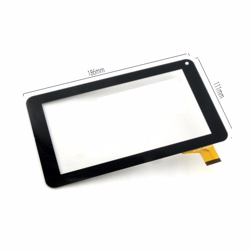 New Black 7 Touch Screen Digitizer Glass For DENVER TAD 70132 186 111mm Tablet PC