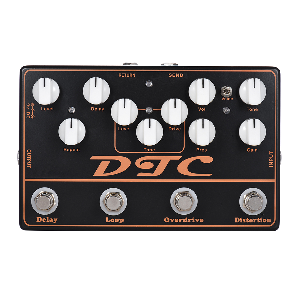 SOACH high quality DTC 4-in-1 Electric Guitar Effects Pedal Distortion + Overdrive + Loop + Delay