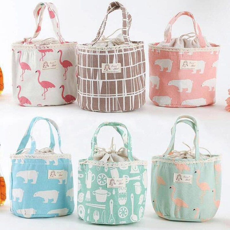 NEW Cartoon Animal flamingo Girl Kids Lunch Bags Insulated Cool Bag Picnic Bag School Lunchbox Work