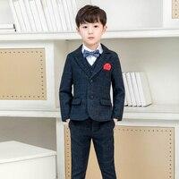 LUOBOBEIBEI Children Suit Boy Formal Suits For Wedding Blazer 7 Pcs Vest Shirt Baby Boy Blazer flower kid costume for a kid