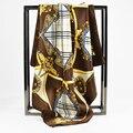 Luxury Square Scarves Women Fashion Bag Women Print Famous Brand Designer Scarf Satin Bandana Gift Hijabs 60cm*60cm