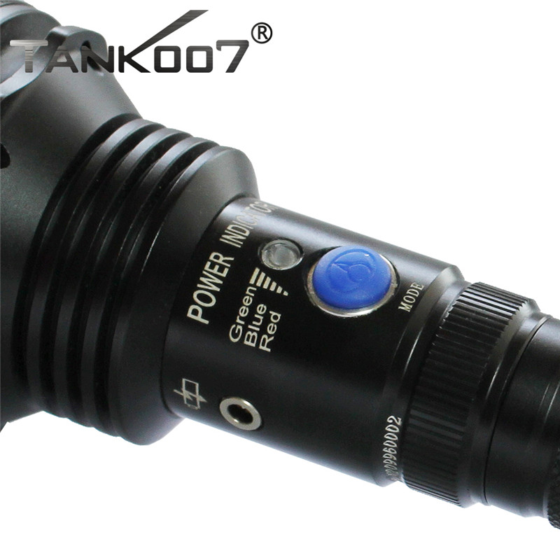 Купить с кэшбэком Tank007 TC60 Cree XM-L U2 1200lm Tactical Flashlight for Hunting and Fighting by 2 X18650 Battery