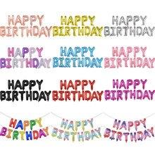 13Pcs Happy Birthday Balloons Foil Letter Balloon Party Decorations Kids Adult Alphabet set
