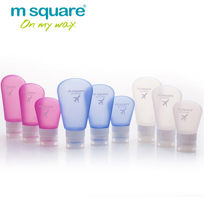 M Square Travel Accessorie For Empty Cosmetic Containers Plastic Squeeze Bottle Leak Proof Refillable Bottle