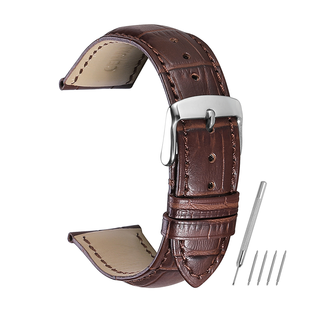 IStrap 18mm 19mm 20mm 21mm 22mm 24mm Black Watch Strap Genuine Leather Bracelet Brown Watch Band For Tissot Hours Watchband