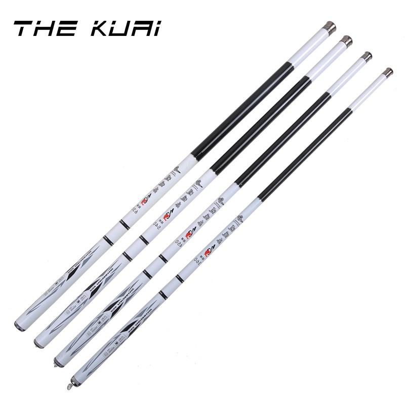 THEKUAI 3.6M 6.3M Stream Rod High Carbon Fishing Rod Portable Ultra light Pole Super Hard 28 Tonal Carp Telescopic Fishing Rod-in Fishing Rods from Sports & Entertainment