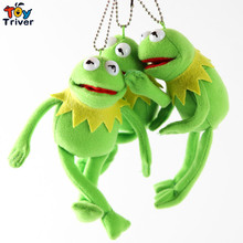 50pcs 15cm Plush Green Frog Doll Keychain Pendant Phone Accessories Toys Stuffed Animal Wholesale Wedding Party Christmas Gift