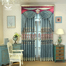 Curtains for Living Dining Room Bedroom High-end Living Room Hollow Water Soluble Embroidery Curtain Fabric(China)