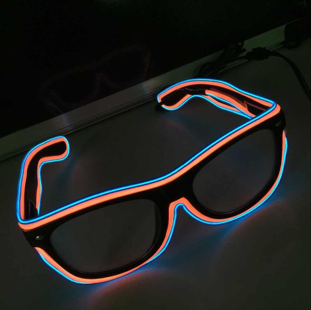 a815da920a48 Flashing LED Light Up Party SunGlasses EL Wire Led Glasses Luminous Party  Decorative Lighting Classic Gift