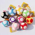 Super Mario Bros Гриб Фаршированные Куклы Плюшевые Игрушки 6 СМ Плюшевые Игрушки Брелок Телефон ремешок